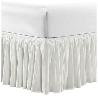 Serenta Tivoli Ikat and Melody Pleated Matching 18-inch Drop Bed Skirt