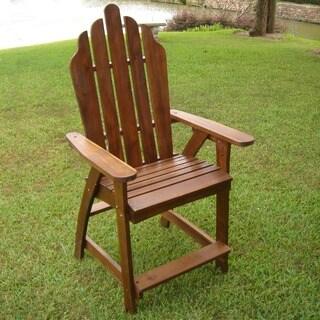 International Caravan Acacia Adirondack Bar Chairs (Set of 2)