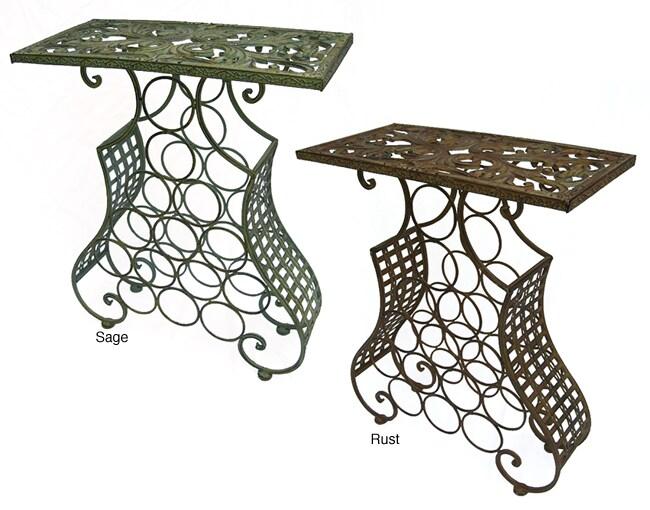 Iron Rectangular Table/Wine Holder