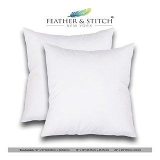 Set of 2---Decorative Pillow Inserts--Square Pillow , Sofa and Bed pillow Inserts, Throw Pillow Insert, White