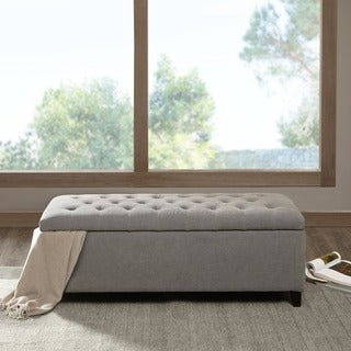 Copper Grove Campbell Sasha Grey Tufted Top Storage Bench