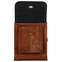 Amerileather Leather Antony Multi-pocket Unisex Travel Messenger Bag