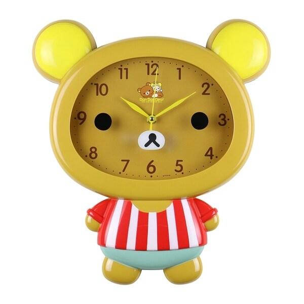 "Brown Bear Children's Wall Clock Cute Home Decor Kawaii 14"" x 12"" 33658770"