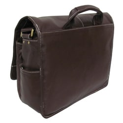Amerileather 'Woody' Leather Laptop Messenger Bag