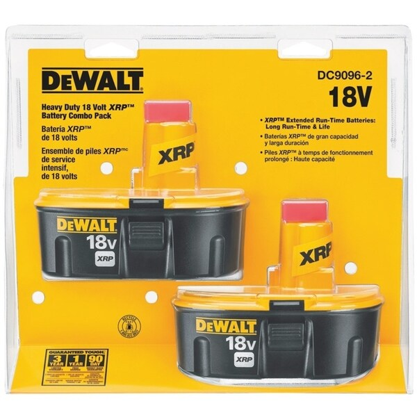 DeWalt  XRP  18 volts NiCd  Battery Combo Pack 33673913