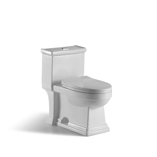 innoci-usa Block 1-piece 1.0 GPF/1.5 GPF High Efficiency Dual Flush Elongated Toilet in White 33689542