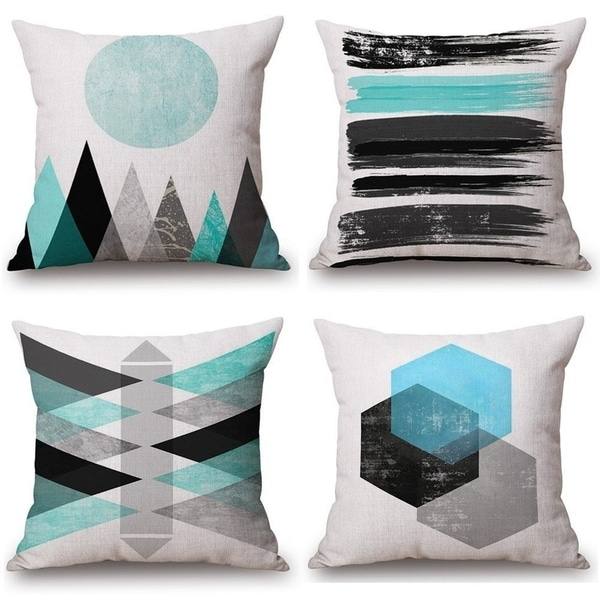 Geometric Printing Square Cushion Covers Pillowcase for Couch,Sofa