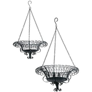 Metal Hanging Baskets - Set of 2