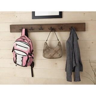Carbon Loft Kenyon Natural Brown Wood/Metal 48-inch Coat Hooks