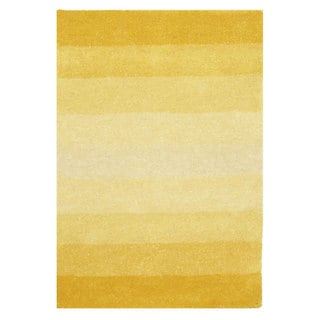 Hand-tufted Yellow Stripe Wool Rug (8' x 10')