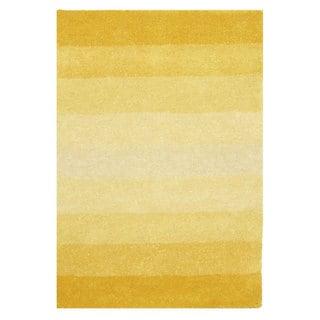 Hand-tufted Yellow Stripe Wool Rug (8' x 10')