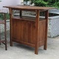 International Caravan Outdoor Wooden Bar Table
