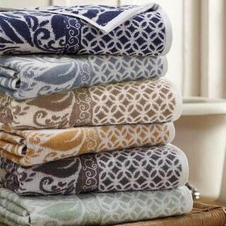Modern Threads Trefoil Filigree 6 Piece Yarn Dyed Jacquard Towel Set
