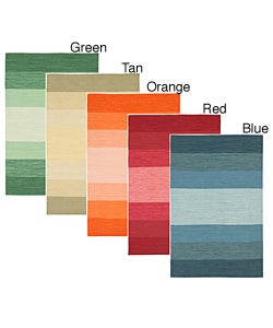 Hand-woven Set of Three Matching Mandara Wool Rugs (3'6 x 5'6)