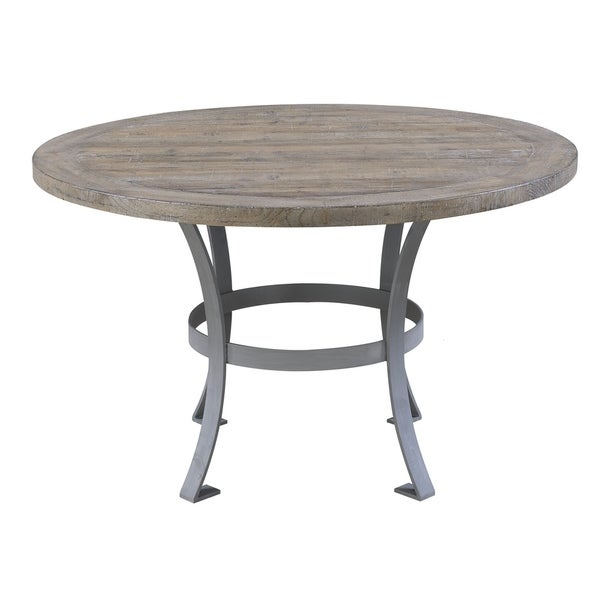 Emerald Home Interlude sandstone gray  round dining table D560-14-K - sandstone gray 33760175
