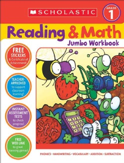 Scholastic Reading & Math Jumbo Workbook Grade 1 (Paperback)