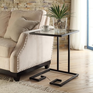 The Curated Nomad Morsun Glass Top Accent Table