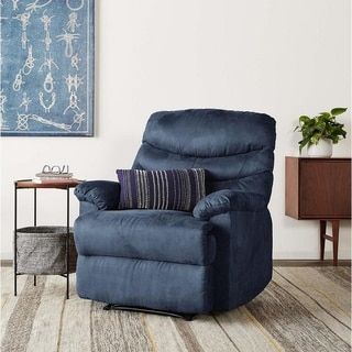 Copper Grove Lily Blue Microfiber Recliner