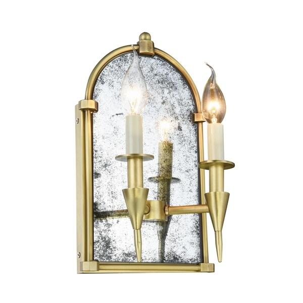 Royce Edge 2-Light Wall Sconce (Burnished Brass, Bronze, Polished Nickel) 33767764