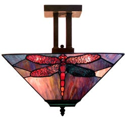 Dragonfly Tiffany-style Pendant Light Fixture