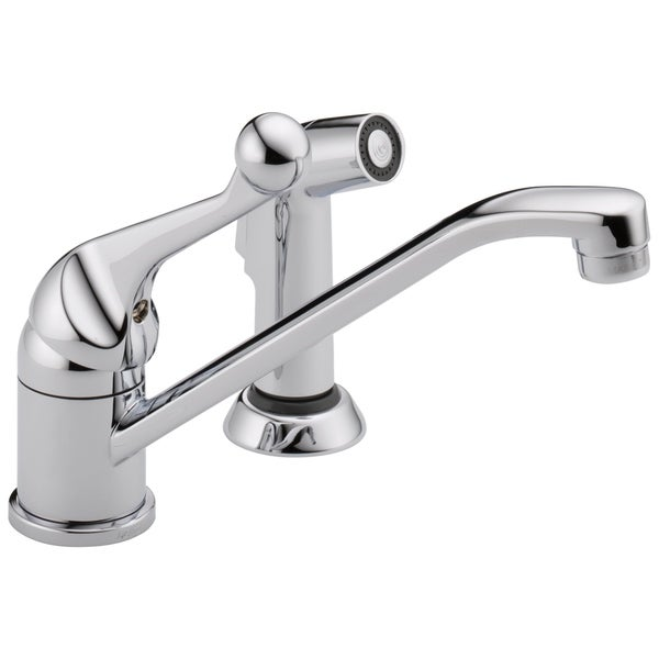 Classic Chrome Single Handle Kitchen Faucet and Spray 33776080