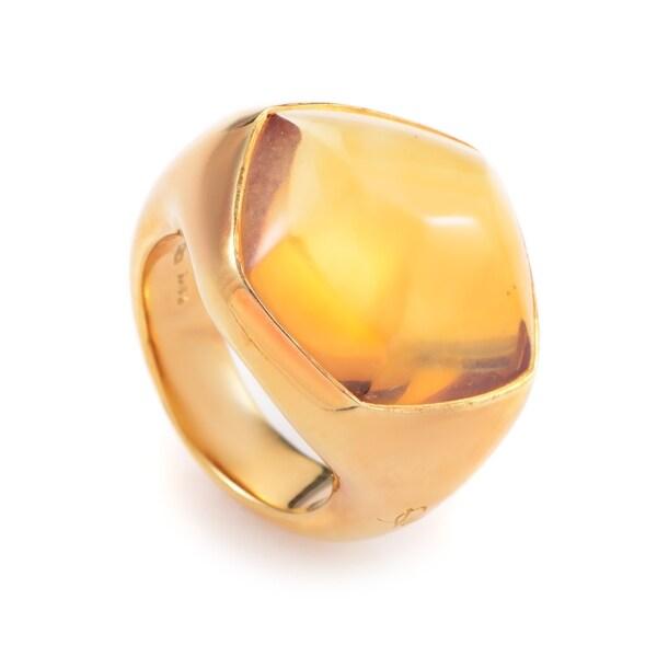 Pomellato Yellow Gold Citrine Ring AK1B2757 33792329