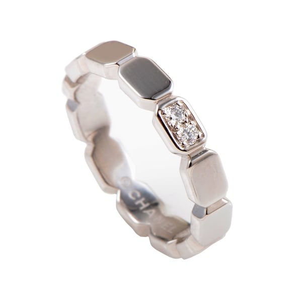 Chanel Premiere Womens Platinum and Diamond Band Ring 33792380