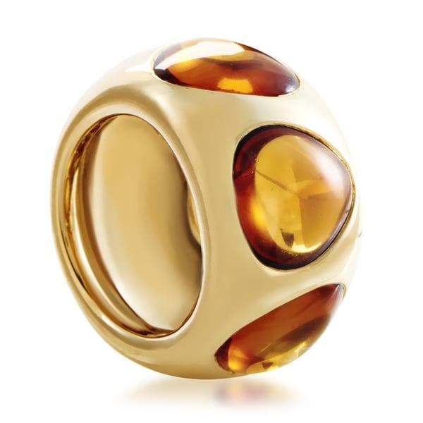 Pomellato Women's Yellow Gold Citrine Band Ring 33792446