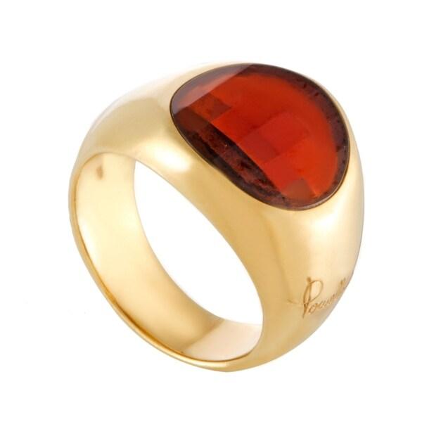 Pomellato Womens Yellow Gold Garnet Ring 33792492