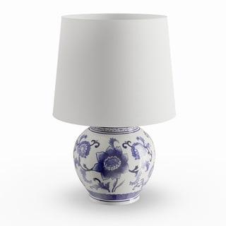 Copper Grove Brightsand Blue/ White Ceramic Table Lamp