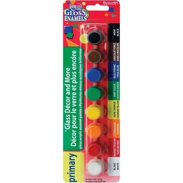 Americana Gloss Enamels Paint Pots 8/Pkg 33818960