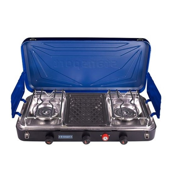 Stansport Outfitter Series 2-Burner and Grill Propane Stove 33819808