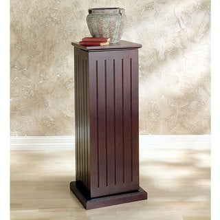 Upton Home Dark Cherry Media Storage Pedestal