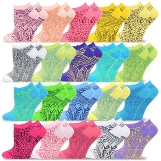 TeeHee Women's Valued 20 Pack Fashion No Show Cotton Socks
