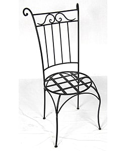 Wrought Iron Wing Back Chair (Morocco)