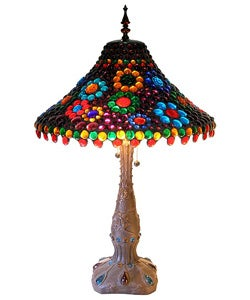 Tiffany-style Jewels Table Lamp