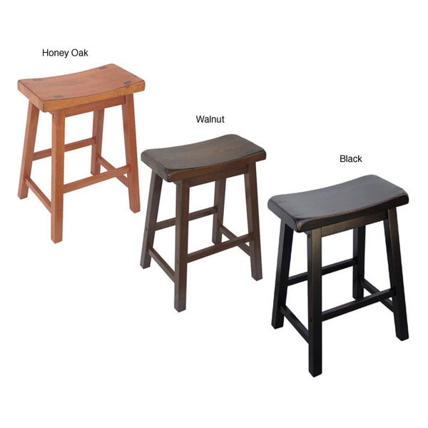 Saddle Seat 24-inch Counter Stools (Set of 2)