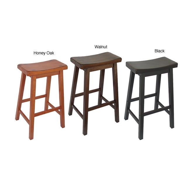 Saddle Seat 29-inch Barstools (Set of 2)