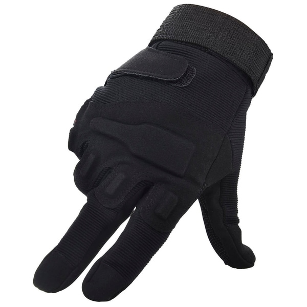 Men Women's Cycling Motorcycle Gloves Mittens, Full Finger Black XL 33906158