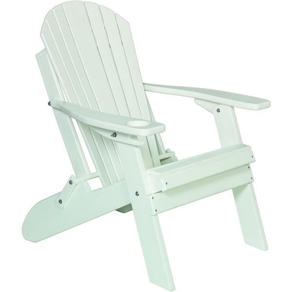 Poly Folding Adirondack Chair with Single Cupholder 33910739