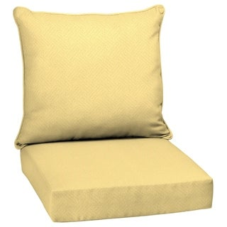 Arden Selections Shirt Texture Outdoor Deep Seat Set - 46.5 in L x 25 in W x 6.5 in H