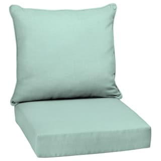 Arden Selections Aqua Leala Texture Outdoor Deep Seat Set - 46.5 in L x 25 in W x 6.5 in H