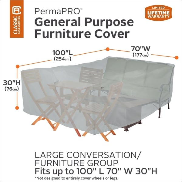 Classic Accessories PermaPRO General Purpose Furniture Cover 33915355