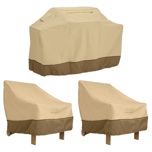 Classic Accessories Veranda Medium Grill Cover and Patio Lounge Chair Cover Bundle 33916616