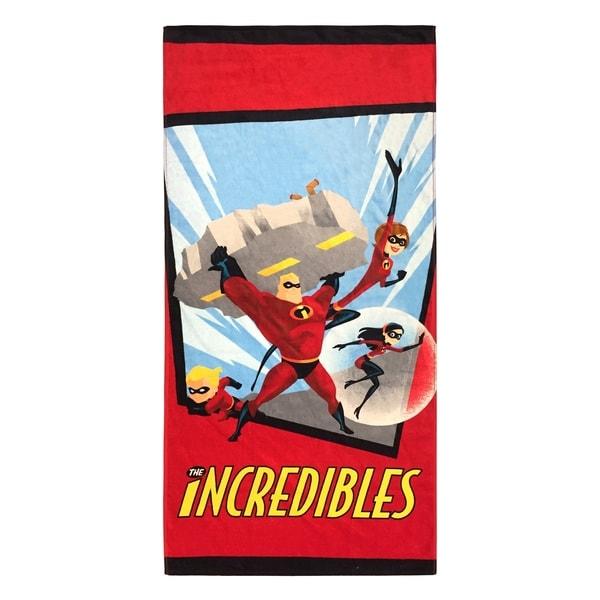 "Disney/Pixar The Incredibles Family 28"" x 58"" Cotton Beach Towel 33916729"