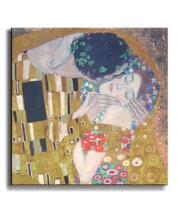 Klimt The Kiss (Detail) Stretched Canvas Art