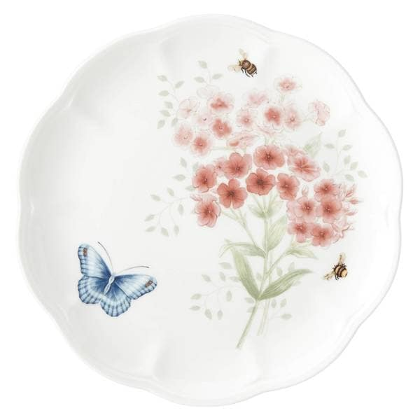 Lenox Butterfly Meadow Flutter Red Poll Finch Accent Plate 33917578