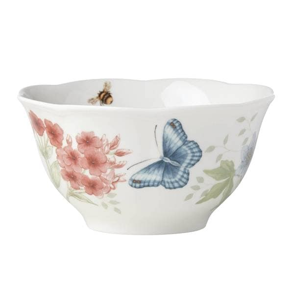 Lenox Butterfly Meadow Flutter Red Poll Finch Rice Bowl 33917584