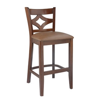 "Copper Grove Bighorn Curtain Back Counter Stool - 23-28""H"