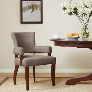 "Copper Grove Cobleland Brown Arm Dining Chair - 24""w x 25.5""d x 35""h"